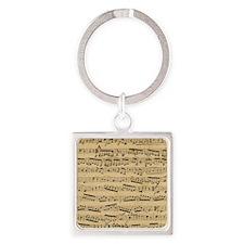 Vintage sheet music Square Keychain