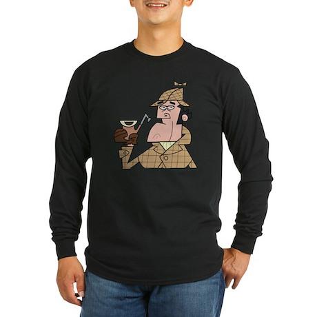 Sherlock - Headshot Long Sleeve Dark T-Shirt