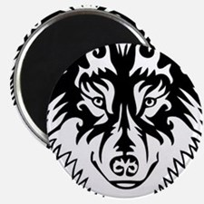 Tribal Wolf 2 Magnet
