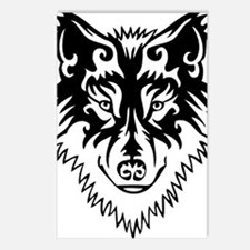 Tribal Wolf 2 Postcards (Package of 8)