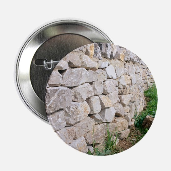 "Limestone wall 2.25"" Button"