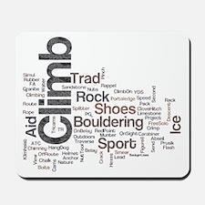 Climbing Words Mousepad