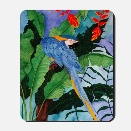 Blue and Gold Macaw Preening Mousepad