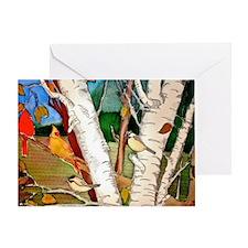 Birds in the Birch tree Greeting Card