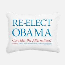 O44+4: Re-Elect Obama -  Rectangular Canvas Pillow