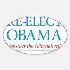 O44+4: Re-Elect Obama - Text Yard S Decal