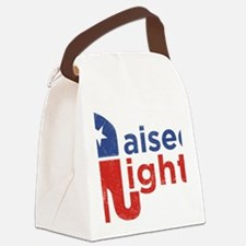 Raised Right Canvas Lunch Bag