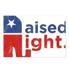 Raised Right Postcards (Package of 8)