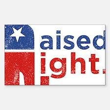 Raised Right Sticker (Rectangle)
