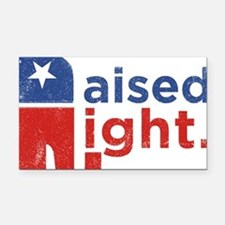 Raised Right Rectangle Car Magnet