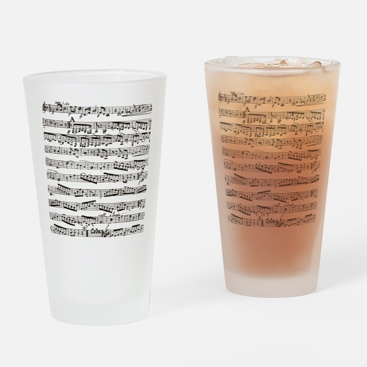 Vintage music Drinking Glass