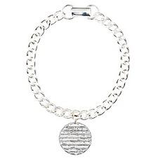 Vintage music Charm Bracelet, One Charm