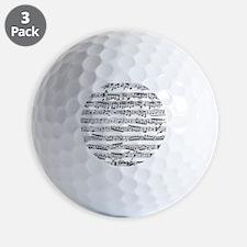 Vintage music Golf Ball