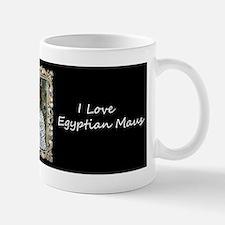 Silver Egyptian Mau Mug
