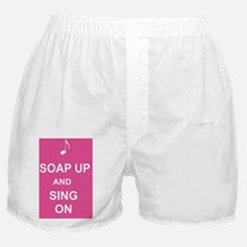Singing in the shower curtain Boxer Shorts