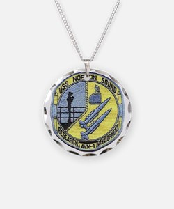 uss norton sound patch trans Necklace