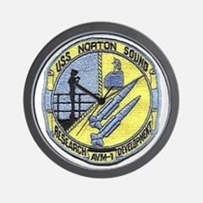 uss norton sound patch transparent Wall Clock