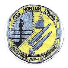 uss norton sound patch transparen Round Car Magnet
