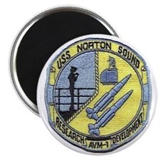 uss norton sound patch transparent Magnet