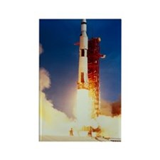 Launch of Apollo 11 Rectangle Magnet