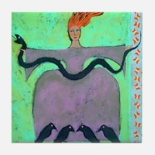 Fire Lady / Original Painting Tile Coaster