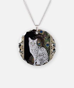 Silver Egyptian Mau Necklace