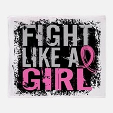 - Fight Like a Girl 31.8 Breast Canc Throw Blanket