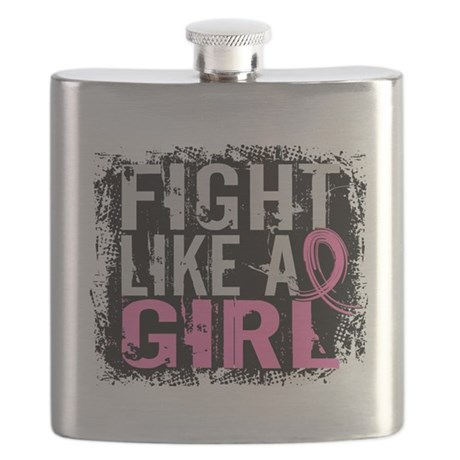 - Fight Like a Girl 31.8 Breast Cancer Flask