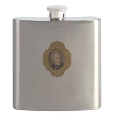 Andrew Jackson White Flask