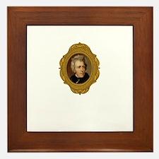 Andrew Jackson White Framed Tile