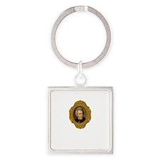 Andrew Jackson White Square Keychain