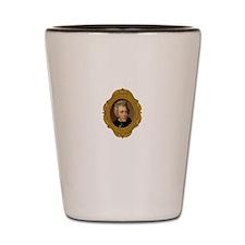 Andrew Jackson White Shot Glass