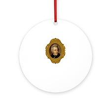 Andrew Jackson White Round Ornament