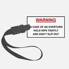 Warning: In case of overturn hol Luggage Tag