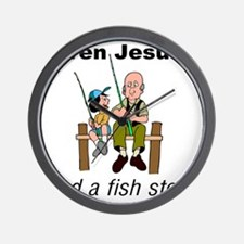 Even Jesus had a fish story Wall Clock