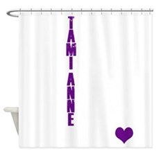 Tami Anne Rules Dark Shower Curtain