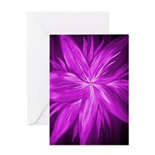 Pink Abstract Beautiful Flower Greeting Card