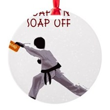 Karate Kid parody funny shower curt Ornament