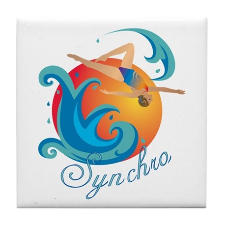 Synchronized Swimming Tile Coaster