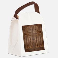 Wooden Door Canvas Lunch Bag