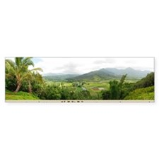 Hanalei Valley Kauai cup image Bumper Sticker