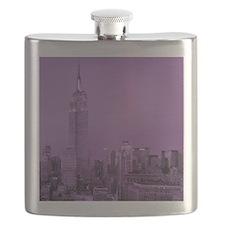Purple NYC Skyline Flask