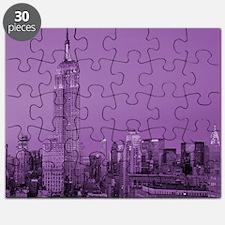 Purple NYC Skyline Puzzle