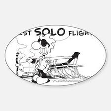 First Solo Flight (Plane) Sticker (Oval)