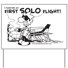 First Solo Flight (Plane) Yard Sign