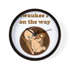 Milwaukee fan on the way Wall Clock