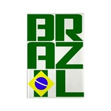 Brazil (3) Rectangle Magnet