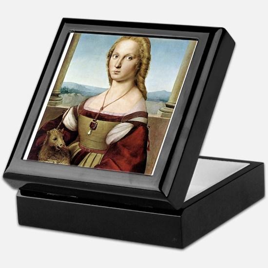 Lady with unicorn - Raphael Keepsake Box