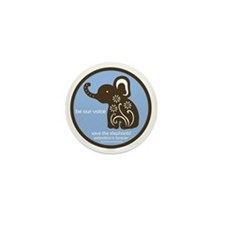 SAVE THE ELEPHANTS! Mini Button