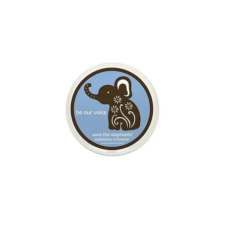 SAVE THE ELEPHANTS! Mini Button